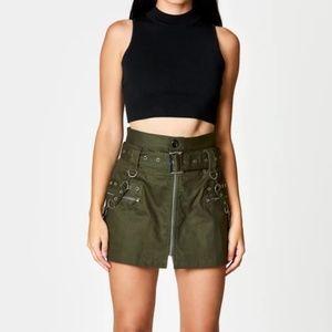 Carmar LF Belted Zip Skirt Grommets & Suspenders